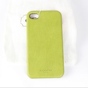 NWT Coach like green iPhone 4s cell phone case
